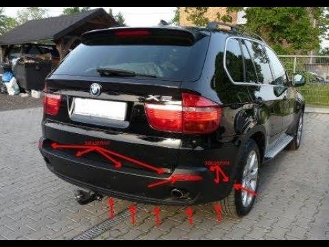 КАК СНЯТЬ ЗАДНИЙ БАМПЕР BMW X5 E70