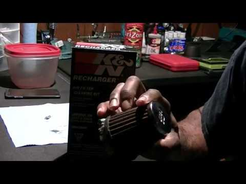 K&N Recharger kit unboxing with air filter recharge