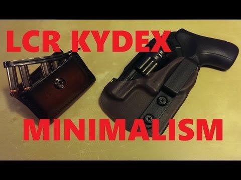 Sleek Ruger LCR Minimalist Holster by SoCo Kydex