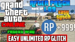 gta 5 online easy unlimited rp glitch after 1 09 rank up fast solo 240k rp an hour
