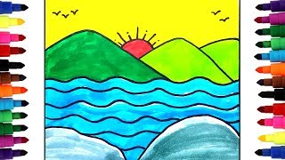 draw drawing mountain landscape simple