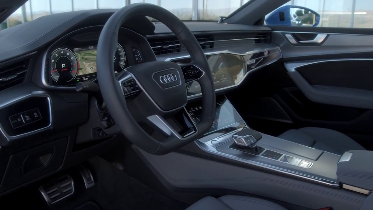 2019 audi a7 interior functions youtube. Black Bedroom Furniture Sets. Home Design Ideas