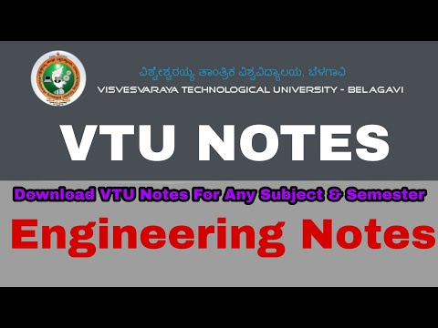 VTU Engineering Notes | How To Download Engineering Notes | VTU Updates