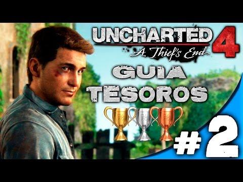 GUIA UNCHARTED 4 CAPITULO #2 / UN LUGAR INFERNAL / LET´S PLAY TROFEOS TESOROS ESPAÑOL
