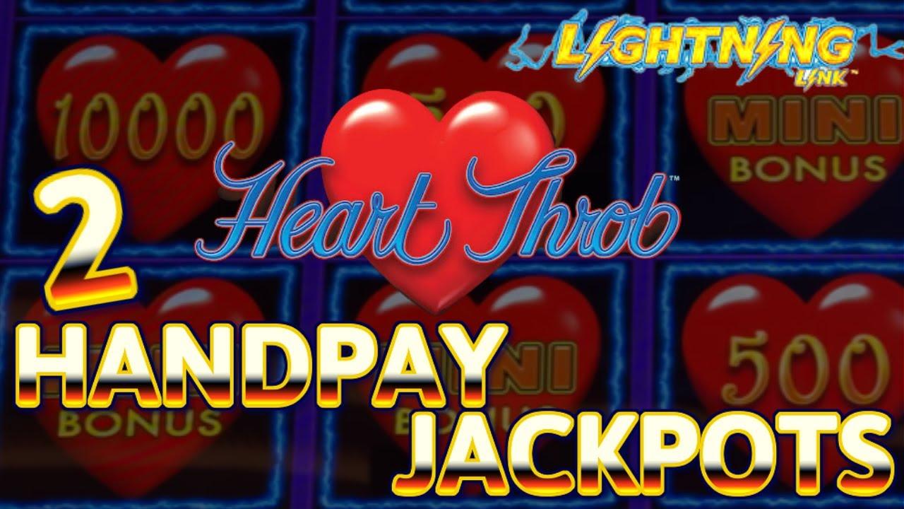 Lighting Link Heart Throb (2) HANDPAY JACKPOTS ~ HIGH LIMIT $62.50 Bonus Round Slot Machine Casino