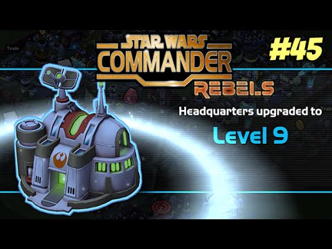 Star Wars Commander Rebels #45 - Headquarters 9 & EPIC DEFENSE!