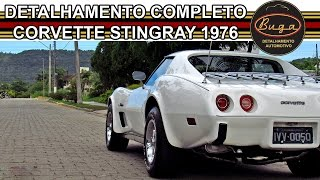 c3 corvette stingray 1976 classic white detailing and restoration buga detalhamento automotivo