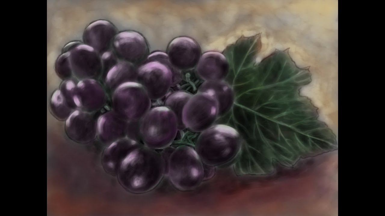 How To Draw Grapes How To Paint Grapes