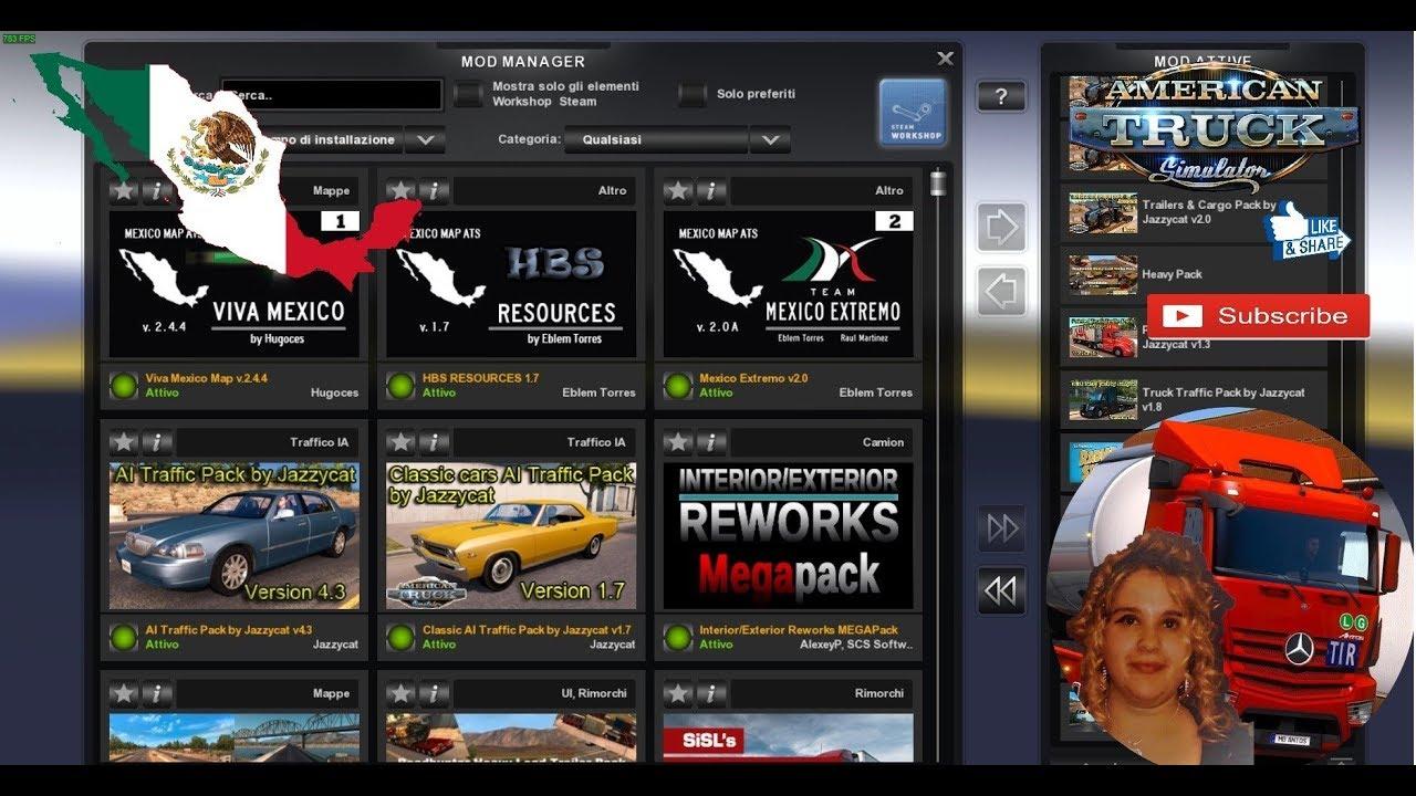American Truck Simulator 131 Viva Mexico Map