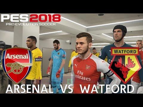 PES 2018 (PC) Arsenal v Watford | REALISTIC PREMIER LEAGUE PREDICTION | 11/3/2018 | 1080P 60FPS