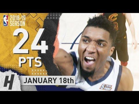 Donovan Mitchell Full Highlights Jazz vs Cavaliers 2019.01.18 - 24 Pts, 4 Ast, 2 Rebounds!