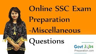 Online SSC Exam Preparation - Miscellaneous Questions