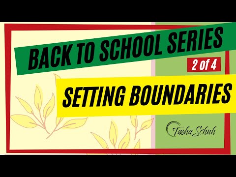 Back-To-School: Setting Boundaries