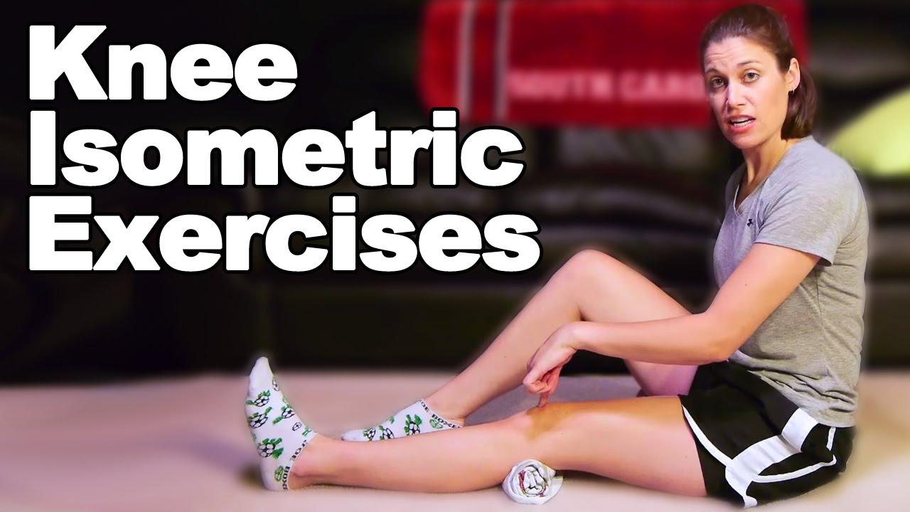 Knee Isometric / Knee Setting Exercises - Ask Doctor Jo - YouTube