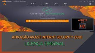 Ativação AVAST INTERNET SECURITY 2016   Licença ORIGINAL  Vál até DEZ 2016