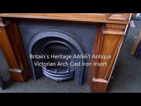 Britain`s Heritage AAI661 Antique Victorian Arch Cast Iron Insert