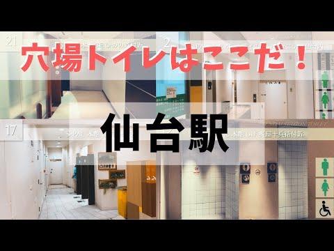 【拡散希望】もう困らない!仙台駅の穴場トイレはここだ Sendai Station Toilet【混雑回避】