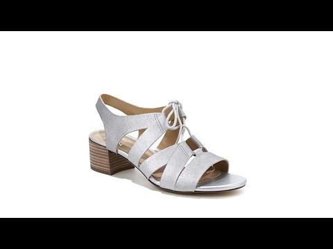 596b9adb7bfe Naturalizer Felicity Ghillie Block Heel Sandal - YouTube