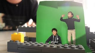 Green screen Chroma key tutorial in 4 minutes - LEGO KIDS PLAYING