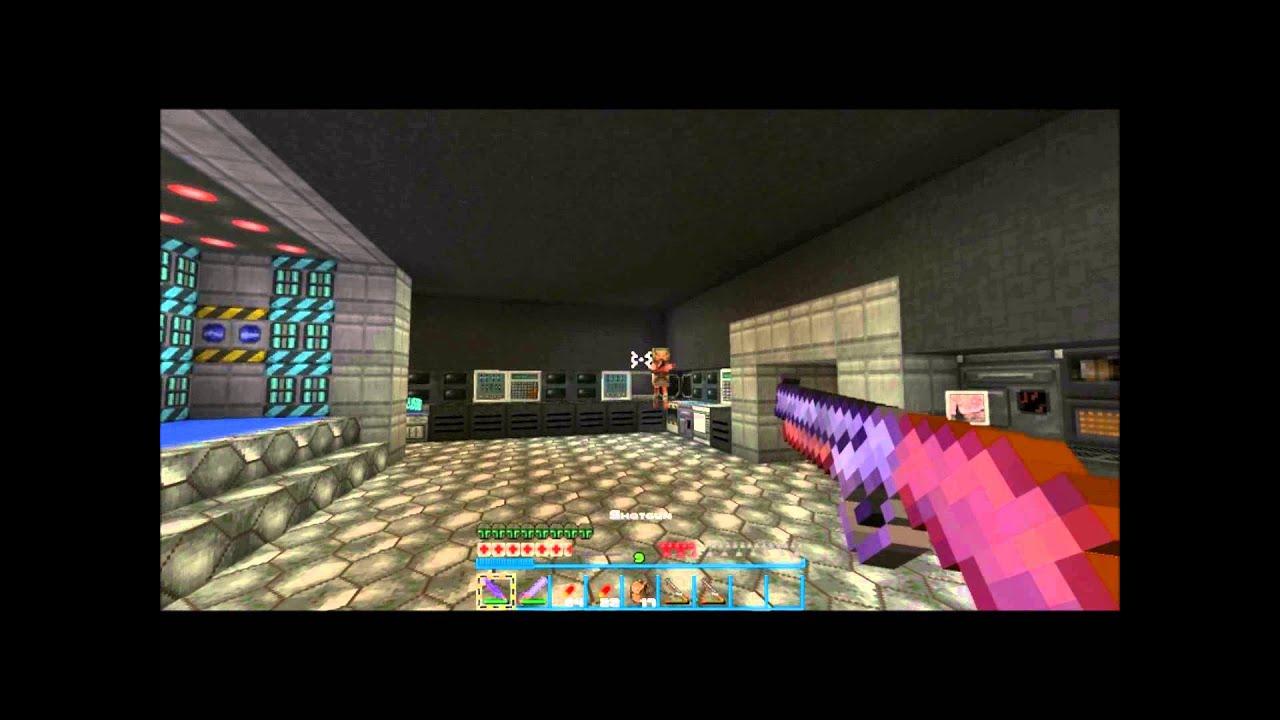 DOOM E1M1 in Minecraft!