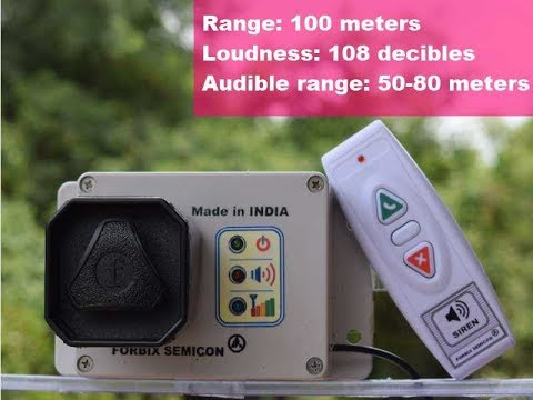 Wireless siren, remote operated alarm, FORBIX SEMICON security systems