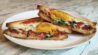 Горячие Бутерброды с Яйцом Очень Сытные и Вкусные Hot Sandwiches With Egg Простой Рецепт