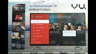 VU 32D6475 smart led tv unboxing