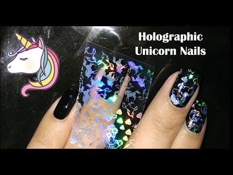 Unicorn Nails | How to Apply Holographic Transfer Foil | Born Pretty Review