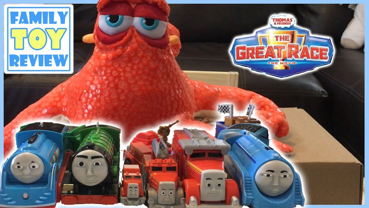 Thomas and Friends The Great Race TrackMaster Shooting Star Gordon, Flying Scotsman, Fiery Flynn