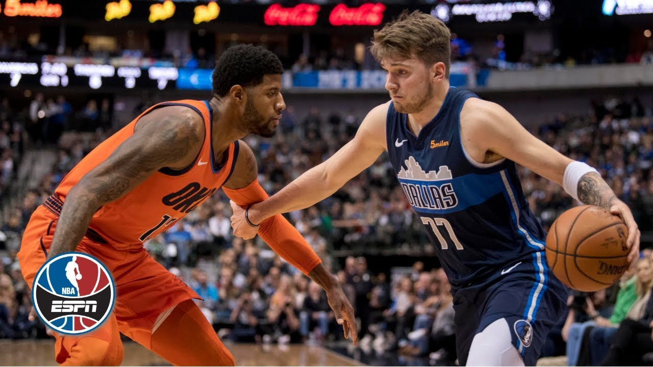 Luke Doncic and the Mavericks best Paul George and the Thunder | NBA Highlights