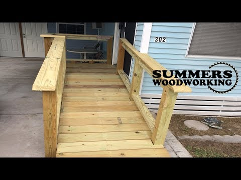 How To Build A Wooden Deck With Ramp
