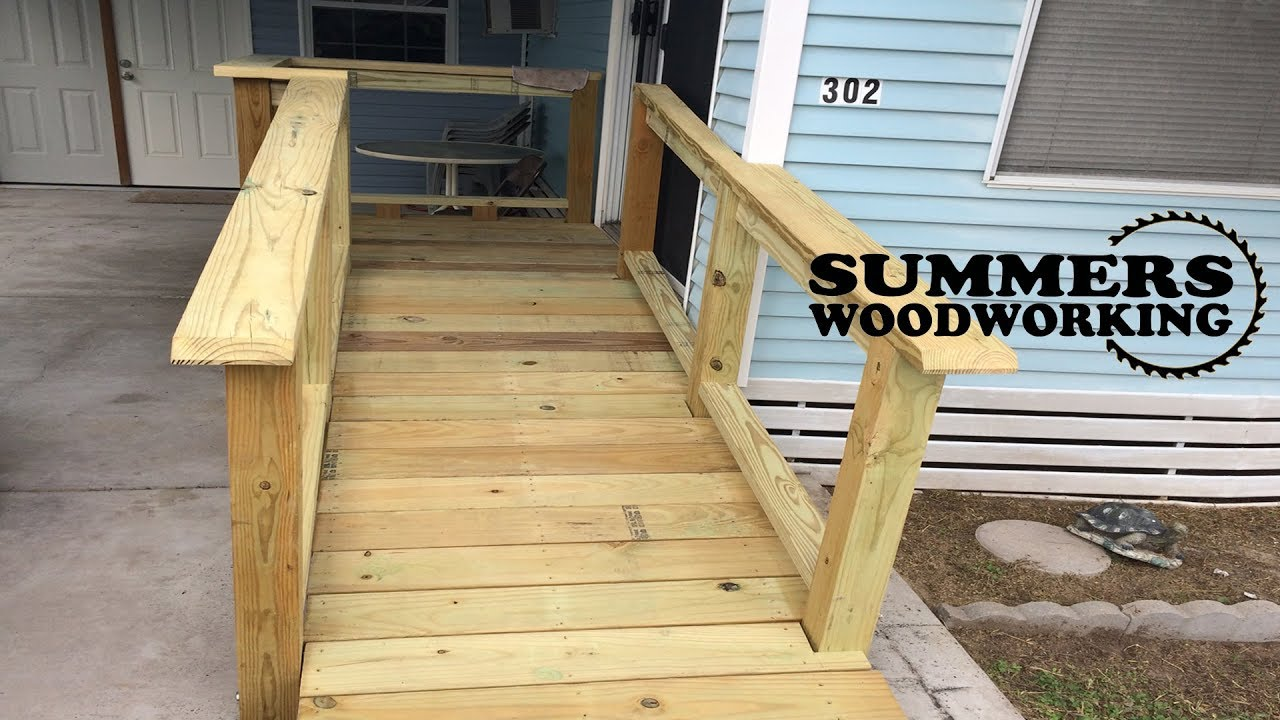 How To Build A Wooden Deck With Ramp  YouTube