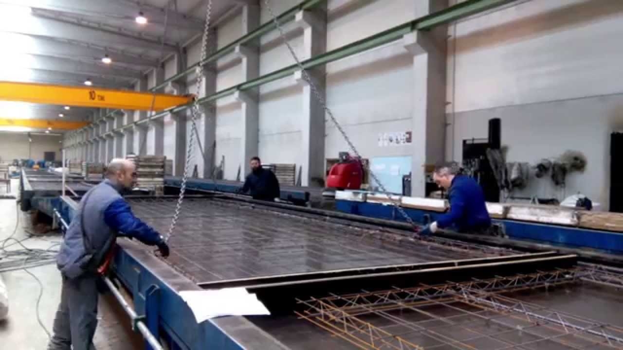 Tilting Table For Production Of Precast Wall Panels Youtube