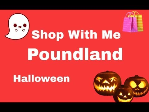 Shop With Me - Poundland - Halloween - Sept