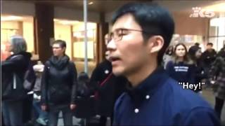 Library power: Trump protesters quieted at UW