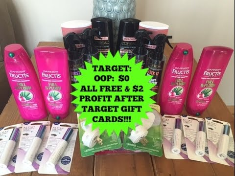 4/9/16-Couponing at Target..OOP..$0 after gift cards PLUS a $2 moneymaker!!!!