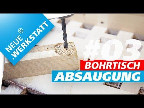 ◆ 3/3 ◆ Bohrtisch Absaugtisch / Kreisschneider nutzen / Säulenbohrmaschine / Tischbohrmaschine