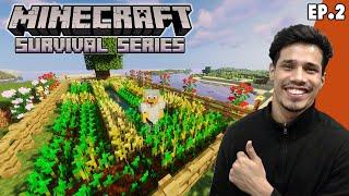 Our First Farm | Minecraft Survival Episode 2