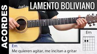 Como tocar LAMENTO BOLIVIANO Enanitos Verdes en Guitarra Tutorial Acordes