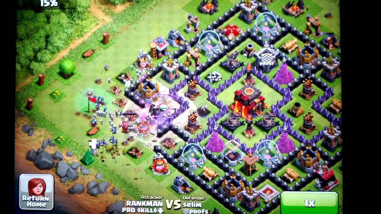 Clash of Clans - High Level Witch Attack! - YouTube