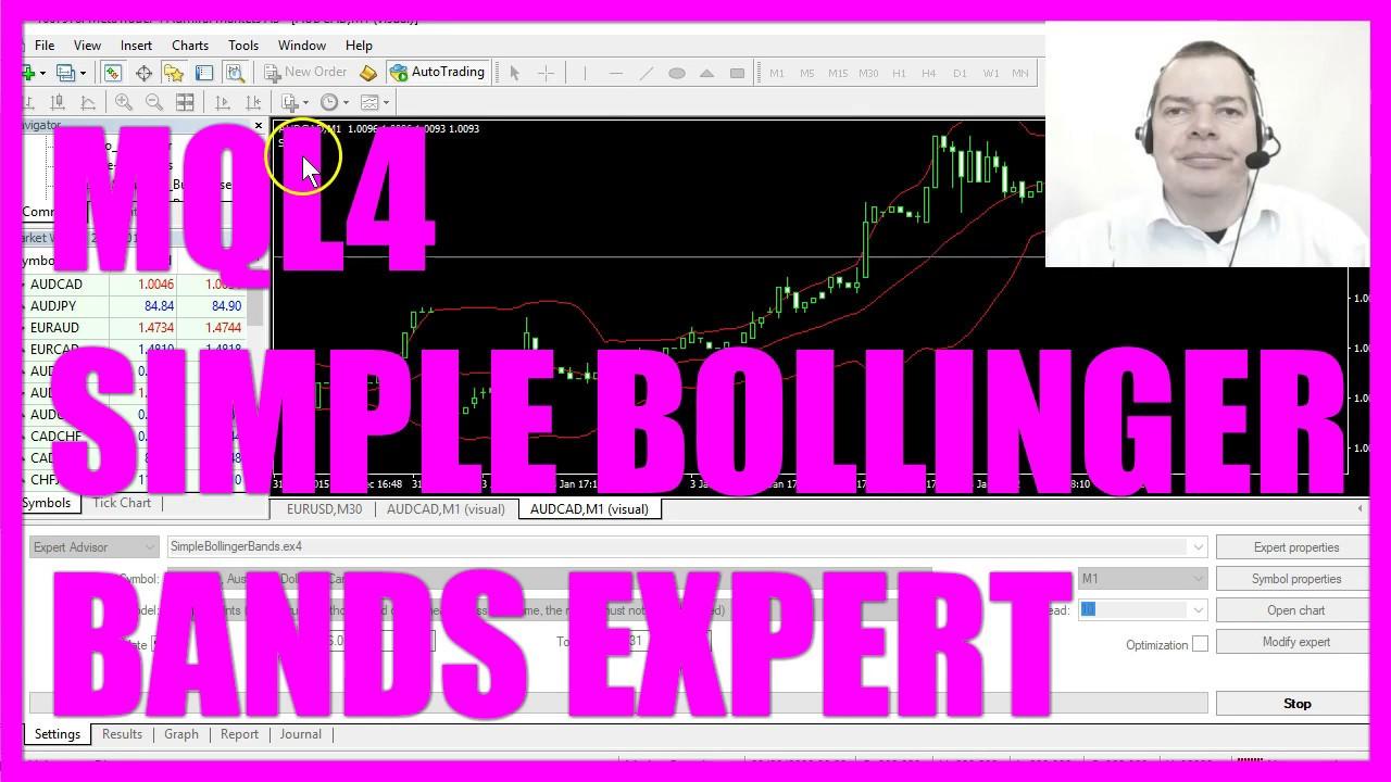 Mql4 Tutorial Simple Bollinger Bands Expert Advisor Youtube