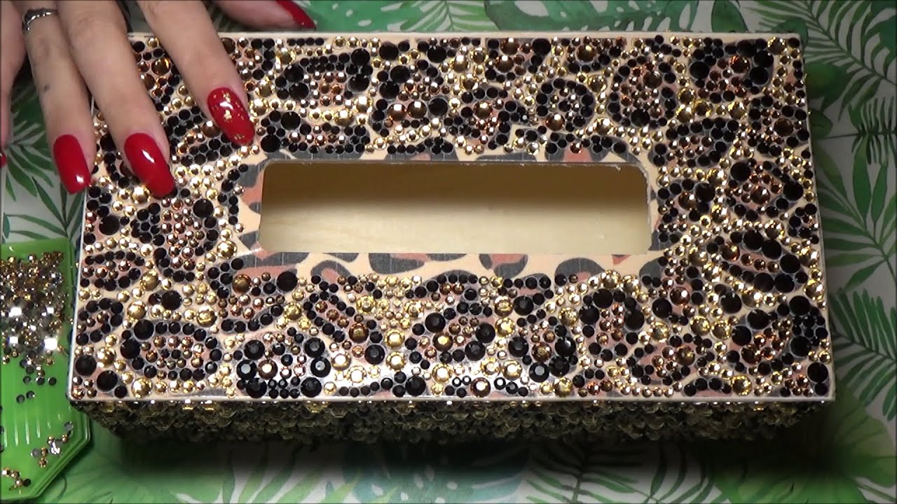 ♥ AliExpress Diamond Painting Tissue Box ~ Unboxing, Finish & Review ♥
