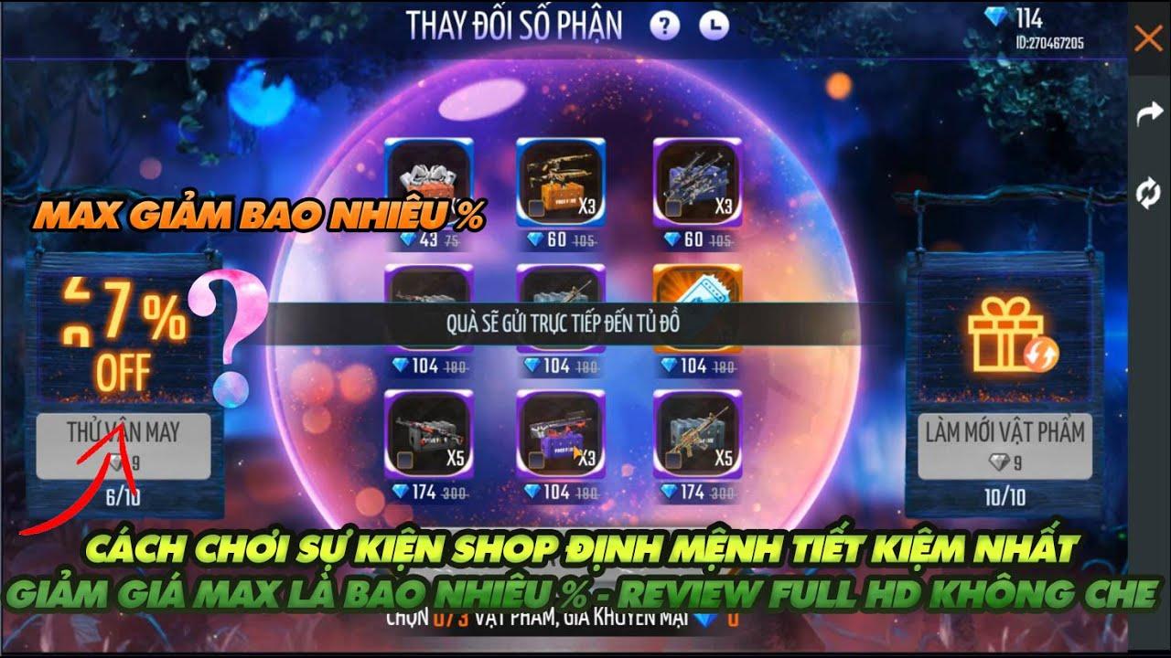 Free Fire  Cách chơi sự kiện shop định mệnh tiết kiệm thay đổi số phận có gì hot - Review Full HD