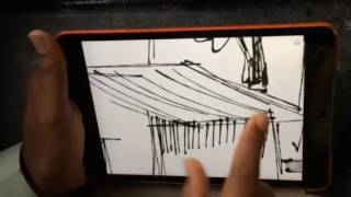How to draw rapid sketch on iPad