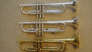 Comparison: Schilke, Bach & Kanstul Bb Trumpets, Part 1 of 2