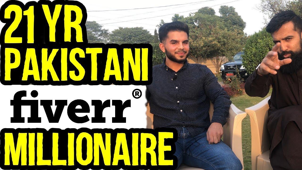 21 Yr Old Pakistani Fiverr Millionaire   25-35 Lakhs a Month