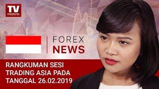 InstaForex tv news: 26.02.2019: Ketegangan geopolitik memperkuat USD dan JPY (USD, JPY, RUB)