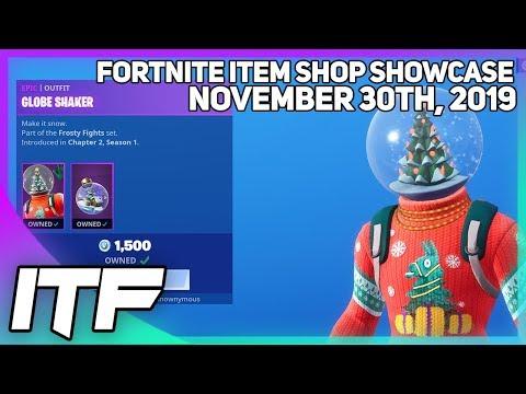 Fortnite Item Shop *NEW* GLOBE SHAKER SKIN! [November 30th, 2019] (Fortnite Battle Royale)