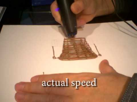 3D sketch with 3Doodler (Titanic (not so) grand staircase)