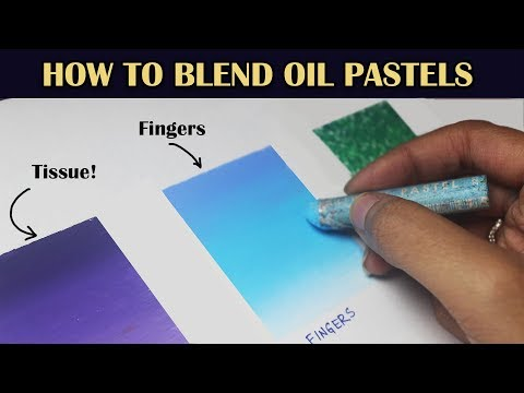 How to blend with Oil Pastels | 4 Oil Pastel Blending Techniques | Saminspire